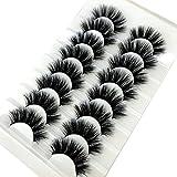 8 pares de pestañas postizas 3D naturales de 15-23 mm set de maquillaje de pestañas postizas - 8D-08