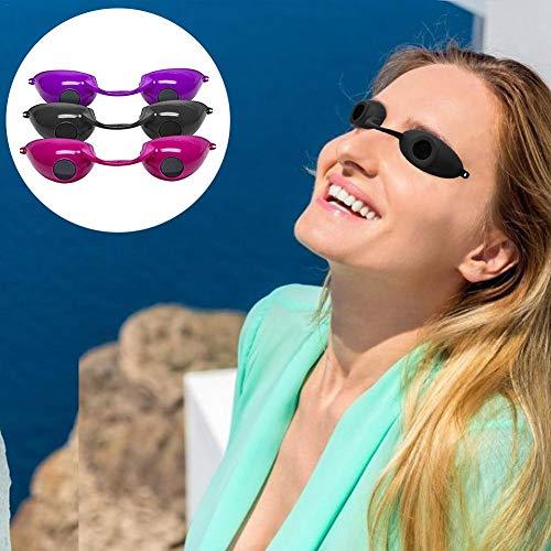 Dedeka Occhiali di Sicurezza Solarium UV 2 Pezzi,Occhiali di Protezione,Occhialini Solarium Protezione Raggi UV per Lampada Solare Professionale o Centro abbronzante