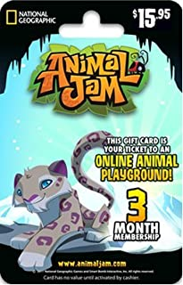 National Geographic Animal Jam Online Game Card - 3 Month Membership - Snow Leopard