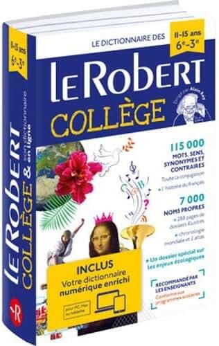 Dictionnaire Le Robert Collège et son dictionnaire en ligne - 11/15 ans - 6e-5e-4e-3e