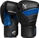 Hayabusa T3 – Guantes de boxeo originales de 296ml y 355ml, 10oz, Negro/Azul