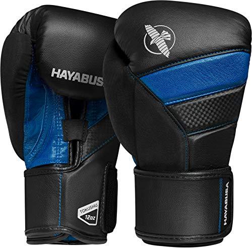 Hayabusa T3 Guantes de boxeo, 10 oz, Negro/Azul