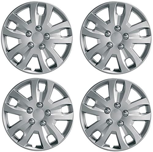 Set de 4 Automotive Tapacubos para Peugeot Partner 207 308 306 605, 15' Hermosos Accesorios Decoración Modificados