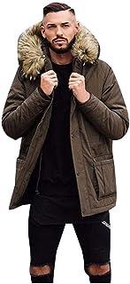 Jimmackey Giubbotto Parka Uomo Giacca Parka Caldo Giacca Cappotto Invernale con Cappuccio Antivento Casual Giacche Cappott...