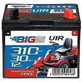 BIG U1R (Pluspol rechts) Garden Power Rasentraktor-Batterie 12V 30Ah 310A Starterbatterie für Aufsitzmäher wartungsfrei