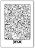 Stadtposter Minimalistic Stadtplanen Poster - Berlin,