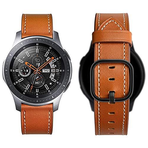 Aottom Kompatibel mit 22MM Herren Armband Galaxy Watch 46mm Leder,Lederarmband Samsung Gear S3 Frontier Armbander Huawei Watch GT2 Ersatzband für Amazfit GTR 47mm/Huawei Watch GT Active/Sport/Classic