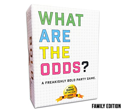 What are The Odds? Family Edition by Gatwick Games - Best Party Games for Adults, Large Families, Teens, Kids, and Groups of 2 - 20 Players, Fun Card Game for Birthday Parties, Game Night, and Events