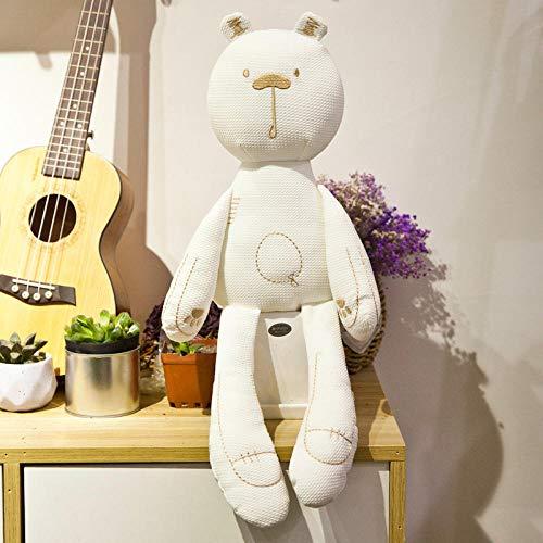 Grote oren sussen konijn kussen baby knuffel pop lappenpop-kleine beer wit _40cm