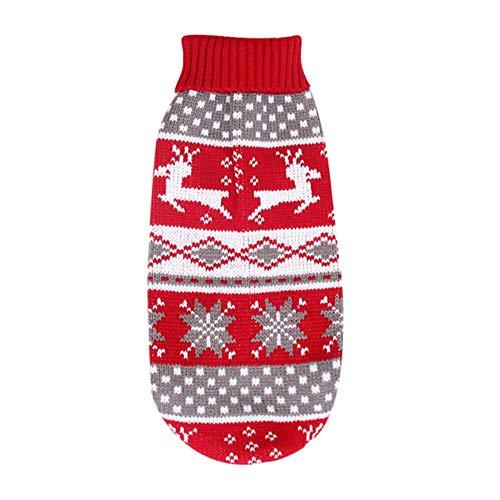 Doubleer Perro Jersey de Navidad Perros Suéteres Abrigos Ropa de Punto Abrigada...