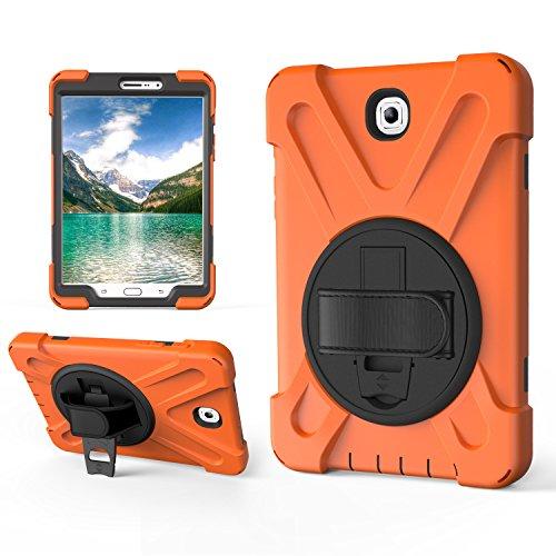 Custodia per Samsung Galaxy Tab S2 8.0 pollici T710, guscio infrangibile tre in uno, a prova di goccia, antipolvere, antiurto, rotazione a 360 gradi