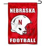 College Flags & Banners Co. Nebraska Huskers Football Helmet Garden Flag