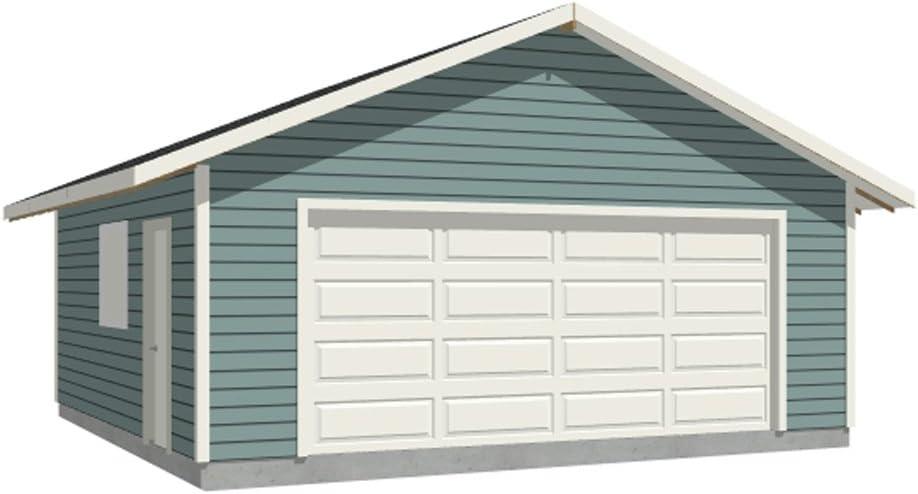 Garage Plans: 2 Car sale Plan 528-2F 22' Two 24' car Omaha Mall - x