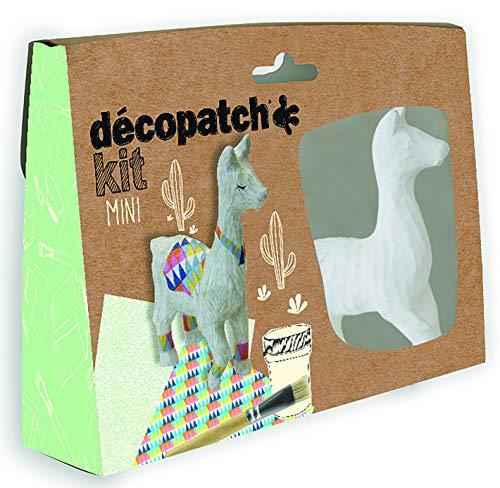 Décopatch Bastel mini-set papier-maché Lama bruin