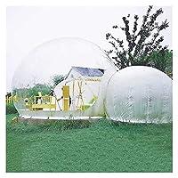 ブロワー付き屋外シングルトンネルインフレータブルキャンプテント屋外バブルハウスファミリーキャンプ裏庭透明ドームテント