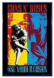 Guns N' Roses Poster Use Your Illusion (94x63,5 cm) gerahmt