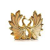 MMH Vaso in Porcellana Kissing Swan Placcato Oro Artigianato Creativo Articoli di Arredamento per La Casa Regalo di Nozze per Gli Amanti