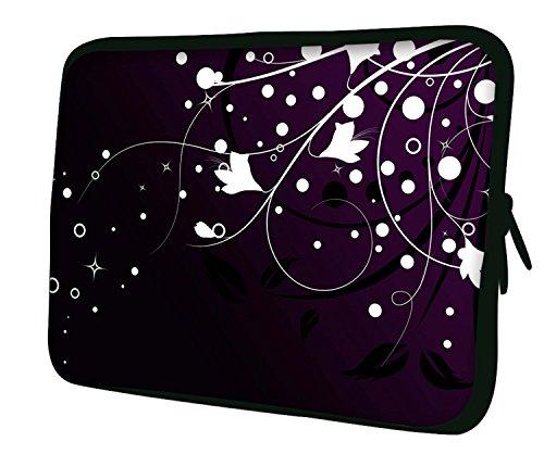 Ektor Hülle/Sleeve/Tasche für 25,4-44,7 cm (10-17,6 Zoll) Laptops/Notebooks, in unterschiedlichen Mustern & Größen erhältlich (Teil 2 von 3) Blumen/Sterne 13