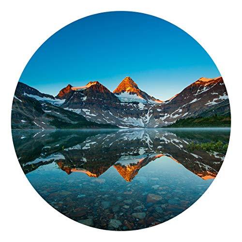 Runde Tapete selbstklebend Berglandschaft am Lake Magog in Kanada 75x75cm