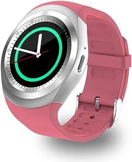QCHNES Reloj Inteligente, Pulsera Impermeable con Bluetooth para Practicar Deporte, Rastreador De Ejercicios Inteligente, Llamada A La Tarjeta SIM, Pantalla Táctil, 1.33 Pulgadas IPS