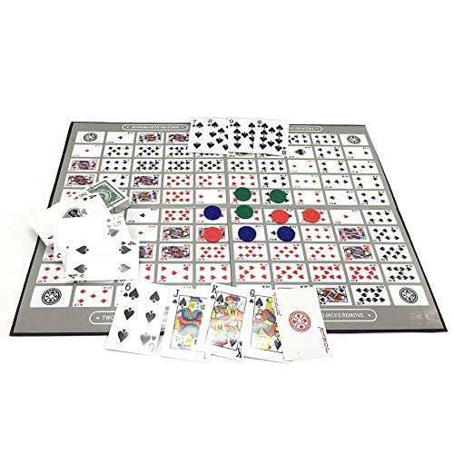 Ecisi Big Chess Board Game Table Game Pattern Patrón Deluxe Sequence Tin...