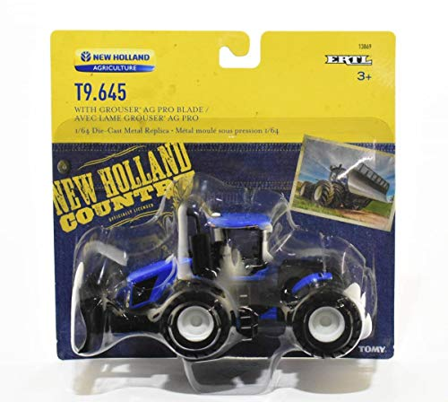ERTL 1:64 New Holland T9.645 4WD Tractor With Grouser Blade -  13869