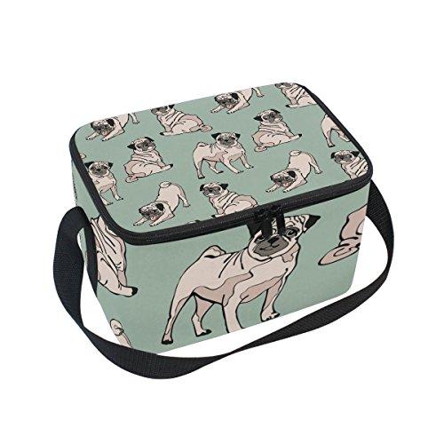 Bolso de almuerzo con diseño de cachorro de peluche, con cremallera, bolsa térmica con cremallera, bolsa para comida para picnic, escuela, mujeres, niños