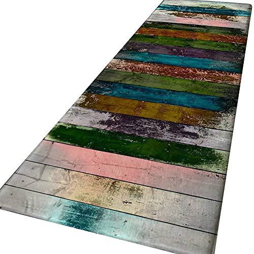 Qlans rutschfeste große Fußmatte, Vintage gemusterte Teppichbodenmatte Home Area Teppich für Wohnzimmer Schlafzimmer Flur Küche