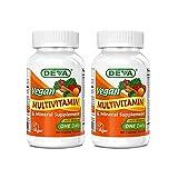 Deva Vegan Multivitamin & Mineral Supplement - Vegan Formula with Green Whole...
