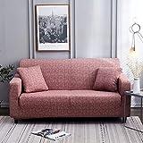 ASCV Sofabezug Tight Wrap Stretch Couchbezug Sofa Handtuch für Möbel Sessel L-Stil Schnittsofa Fundas A2 Kissenbezugx2