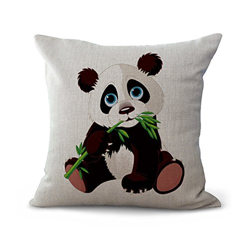 Hengjiang Cushion Cover Cartoon Painted Panda Series Creative Art Pillow Case Home Bar Club Car Bed Decor Sofa Cushion Cover (18x18 inch/ 45x45cm) MY-A1152-01 (#3)
