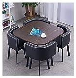 Cocina comedor mesa de ocio Juego de mesa para la cocina o decoración del hotel, Inicio Mesa de comedor y silla de combinación de diseño moderno Mesa Ocio mármol mesa redonda simple del estilo de la c
