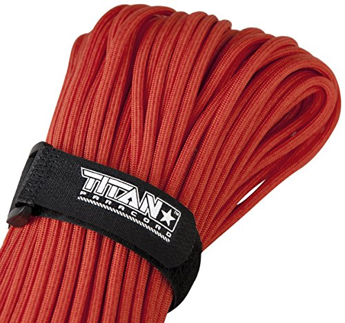 TITAN MIL-SPEC 550 Paracord / Parachute Cord, 103 Continuous Feet, 620 lb. Breaking Strength - Authentic MIL-C-5040, Type III, 7 Strand, 5/32' (4mm) Diameter, 100% Nylon Military Survival Cordage. Includes 3 FREE Paracord Project eBooks.