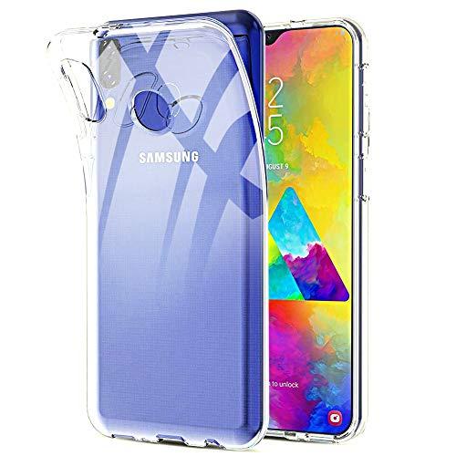 Amonke Transparent Handyhülle mit Samsung Galaxy M20 Hülle Silikon Durchsichtig Kompatibel TPU Dünn Stoßfest Fallschutz Bumper Slim Crystal Clear Hülle Cover Schutzhülle für Samsung Galaxy M20 6,3''