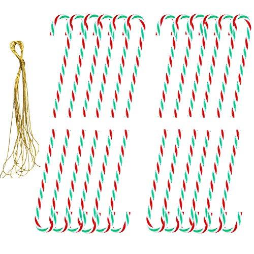 24 Piezas,Bastones de Caramelo Adorno,Adornos para árboles de Navidad Bastón de Caramelo,Muletas Colgante de Decoración,Bastones de Caramelo Adornos,Bastones de Caramelo de Navidad. (Verde)