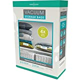 Viridescent Vacuum Storage Bags: 100 MICRON (Up to 35% Thicker) Stronger Higher Quality; 5 pack (Large, Jumbo)
