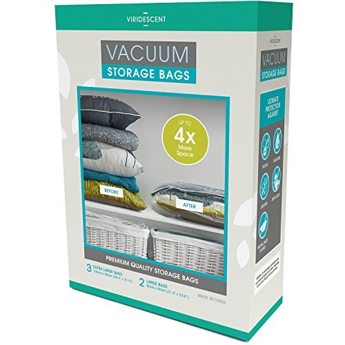 Viridescent® Vacuum Storage Bags: 100 MICRON (Up to 35% Thicker)...