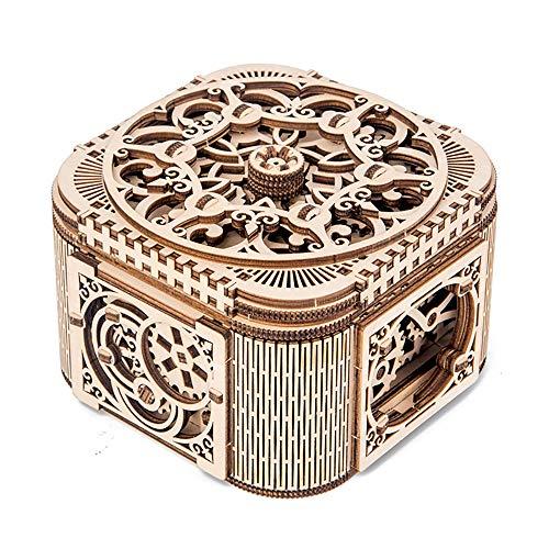 SHPEHP Rompecabezas de madera con ensamblaje tridimensional