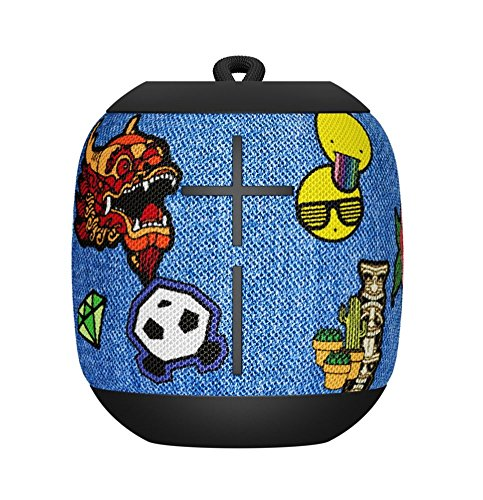 Ultimate Ears Wonderboom Altavoz Portátil Inalámbrico Bluetooth, Sonido Envolvente de 360°, Impermeable, Conexión de 2 Altavoces para Sonido Potente, Batería de 10 h, Multicolor (Patches)