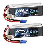 Zeee 18.5V 50C 5200mAh 5S Lipo Battery 2 Pack with EC5 Plug for Mikado LOGO500 Align T-REX550 600 GAUI X5 Outrage 550 Hirobo SDX
