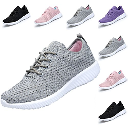 DOMOGO Kumikiwa Womens Sneakers Casual Shoes Sport Running Breathable Walking Shoes Grey, 7
