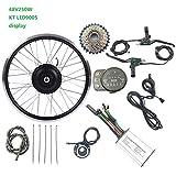 GJZhuan Eléctricos de la conversión de Bicicletas Juego de Ruedas Cassette Trasero del Motor del Cubo del Motor 24V 250W con LED900s Exhibidores 16-28 Pulgadas 700 E-Bici Kit,26inch LED Sets