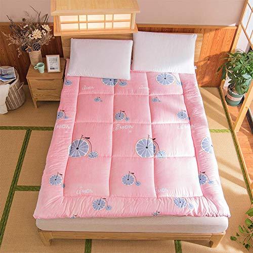 Tatami - Colchón antideslizante plegable para cama de matrimonio o dormitorio - Colchón de matrimonio - Alfombrilla universal para yoga - Ideal para cuatro estaciones - Dimensiones: 90 x 200 cm