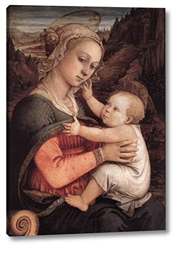 """Madonna and Child by Fra Filippo Lippi - 17"""" x 24"""" Gallery Wrap Canvas Art Print - Ready to Hang"""