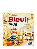 Blevit - Papilla 8 Cereales con Miel Superfibra Blevit Plus 600 gr 5m+