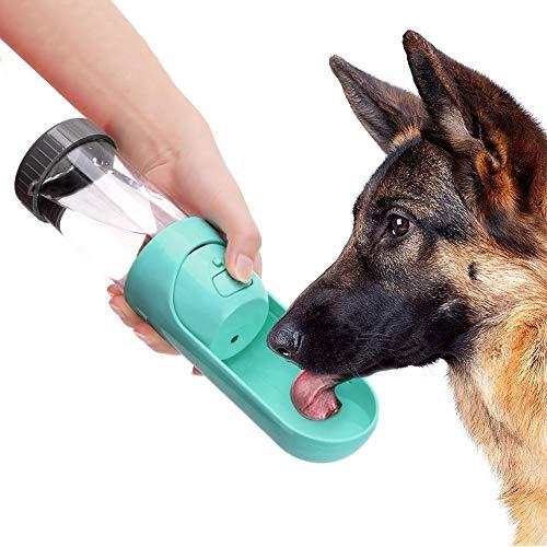 Hffheer Borraccia per Cani, 300ml Pet Bottiglia da Viaggio all'aperto Bowl a Prova di perdite, Gatto e Cane Bottiglia d'Acqua all'aperto Ideale per Viaggi, Escursioni