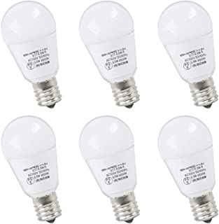 ygdesign LED電球 E17口金 60W形相当 昼光色 ミニクリプトン 広配光タイプ 密閉形器具対 断熱材施工器具対応 LED 電球 e17 6500K PSE認証 省エネ90% 6個セット