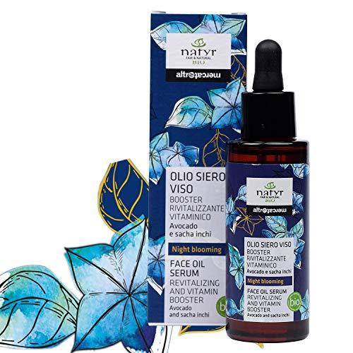 Natyr Night Blooming Gesichtsöl mit Avocado und Sacha Inchi Öl 30ml - Anti Aging Nachtpflege für eine glatte und strahlende Haut 30ml - Naturkosmetik mit Glow Effekt
