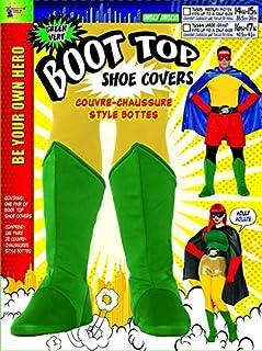 Forum Novelties フォーラムの大人のスーパーヒーローのブートは、lはふくらはぎのサイズ16「17」までフィットするトップス