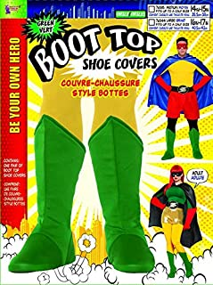 Adults Be Your Own Superhero Super Hero Pink Boot Tops Costume Accessory